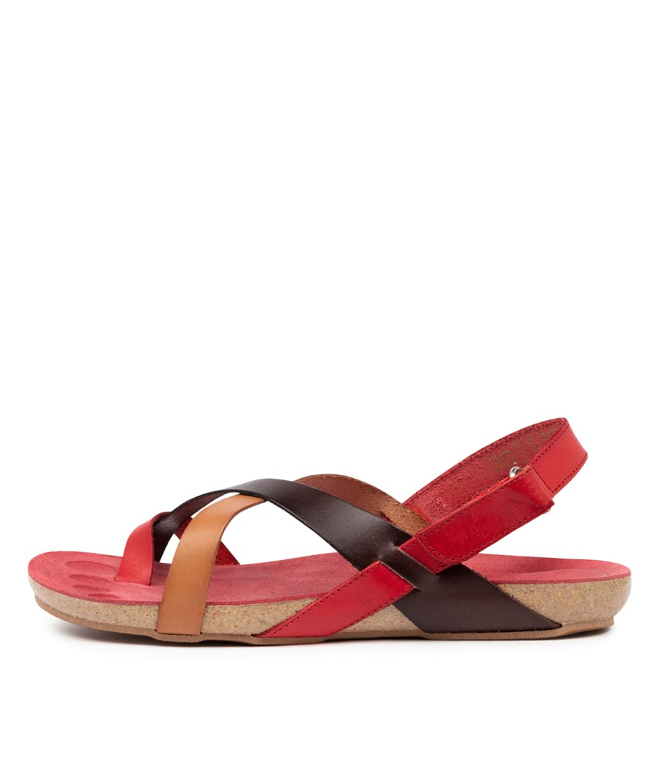 Buy Beltrami Yazmine Be Red Multi Flat Sandals online with free shipping