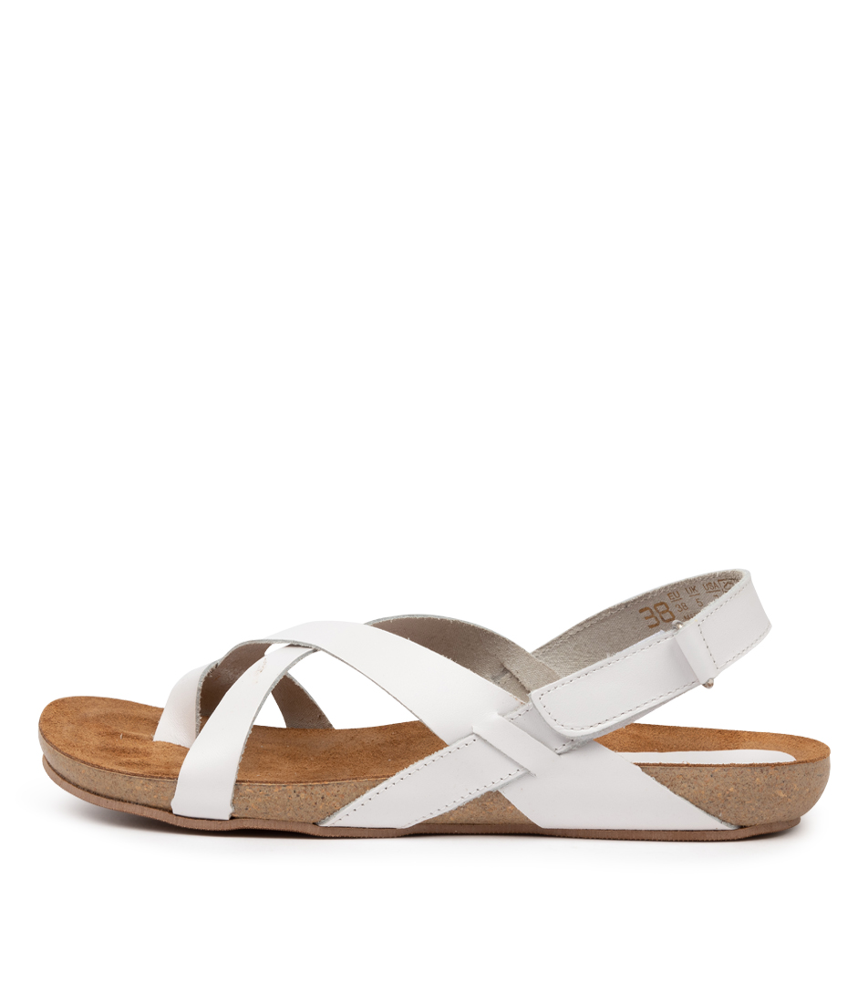 Buy Beltrami Yazmine Be White Flat Sandals online with free shipping