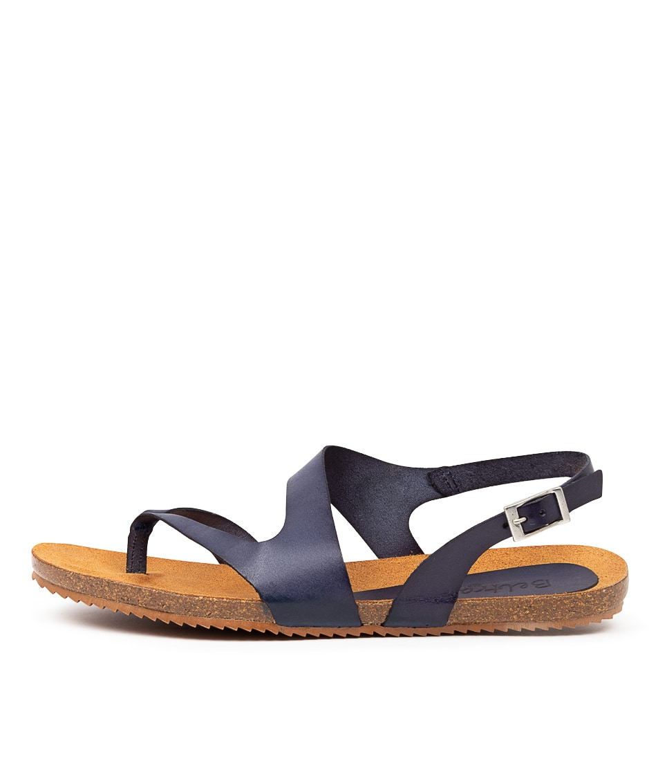 Buy Beltrami Yeva Be Navy Flat Sandals online with free shipping