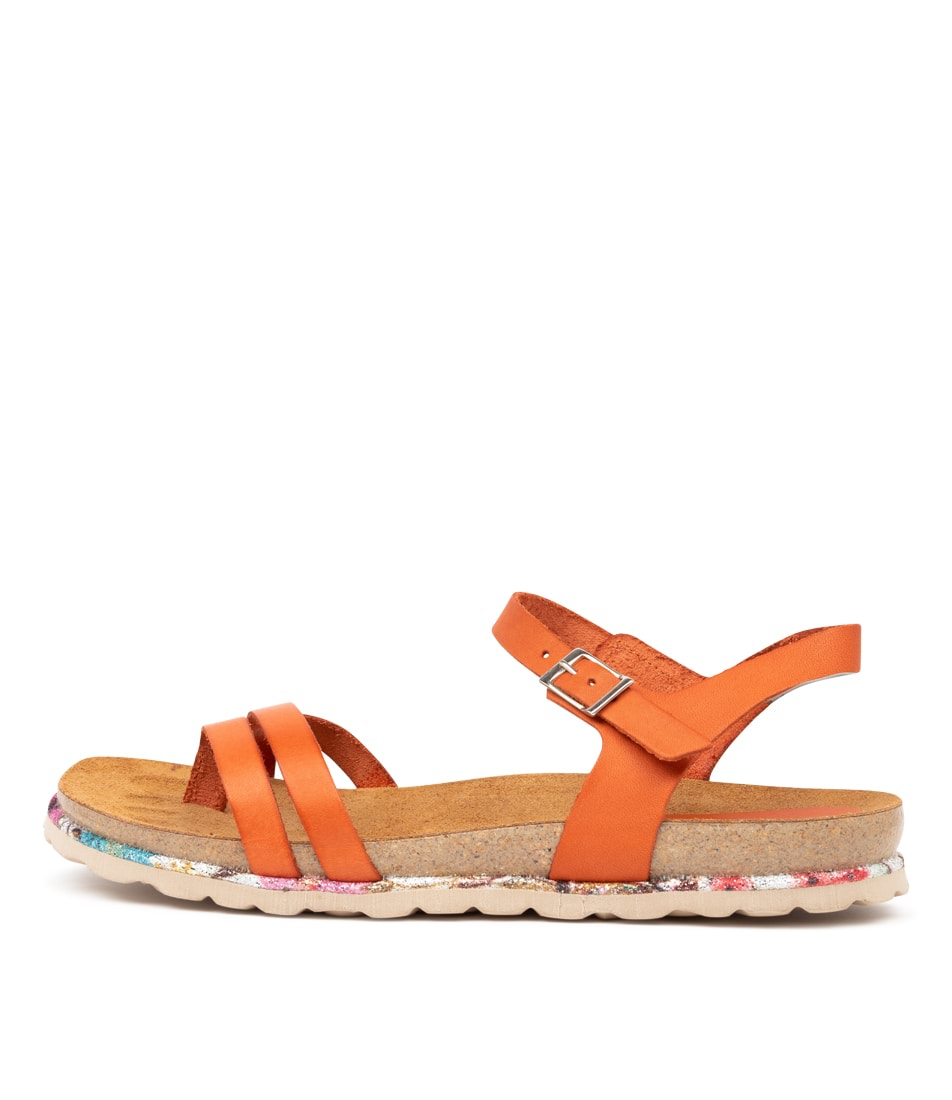 Buy Beltrami Yola Be Orange Flat Sandals online with free shipping