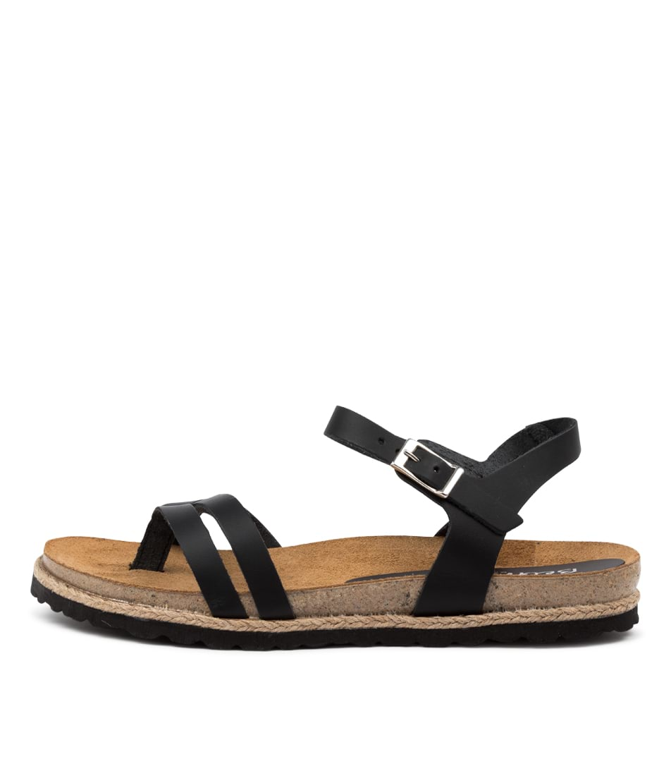 Buy Beltrami Yaricia Be Black Flat Sandals online with free shipping