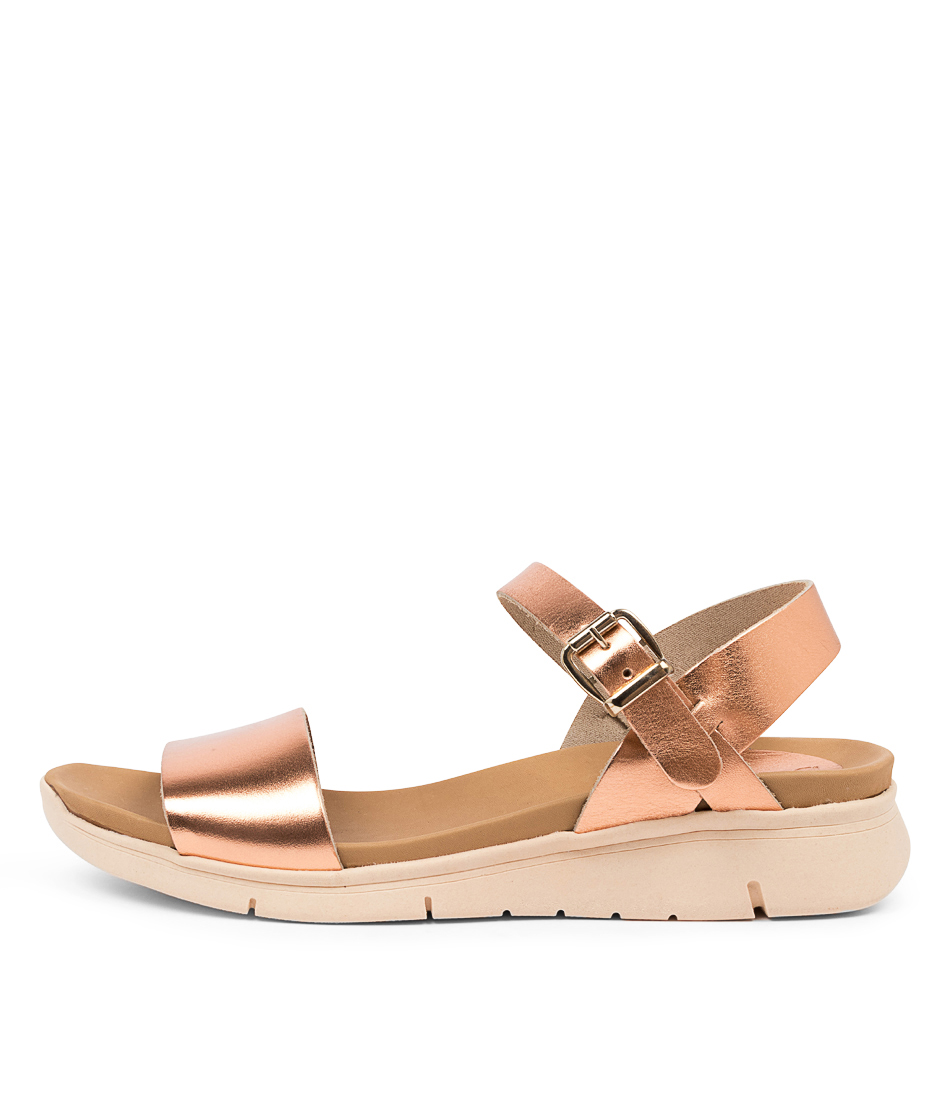 Buy Beltrami Odella Be Rose Gold Flat Sandals online with free shipping