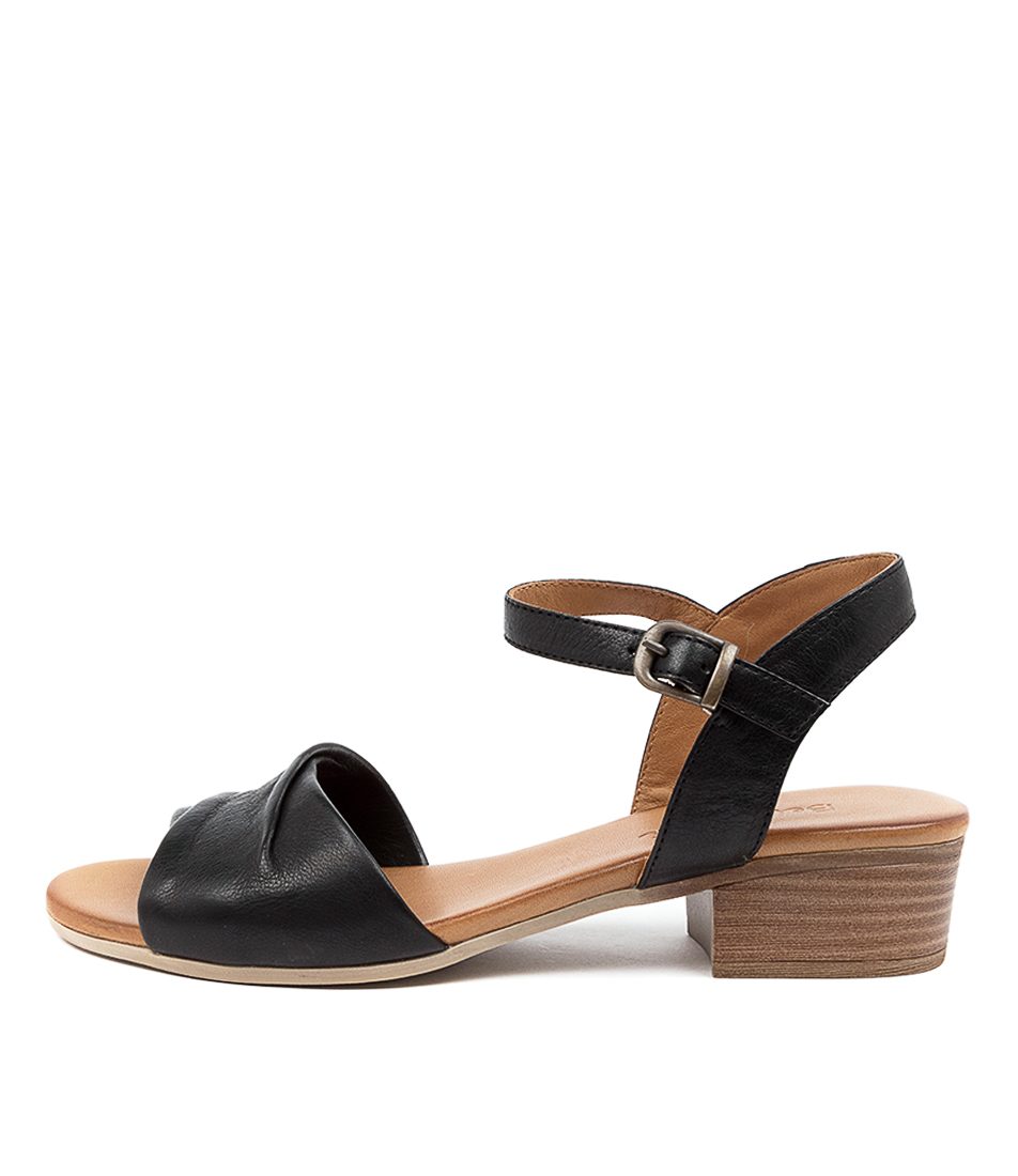 Buy Beltrami Calls Be Black Heeled Sandals online with free shipping