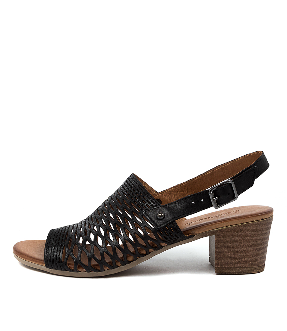 Buy Beltrami Curmon Be Black Heeled Sandals online with free shipping