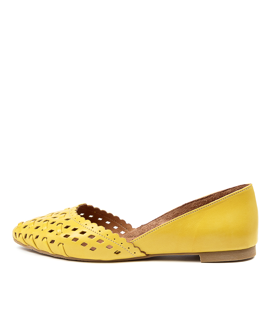 Buy Beltrami Calandra2 Be Dk Yellow Tan Flats online with free shipping