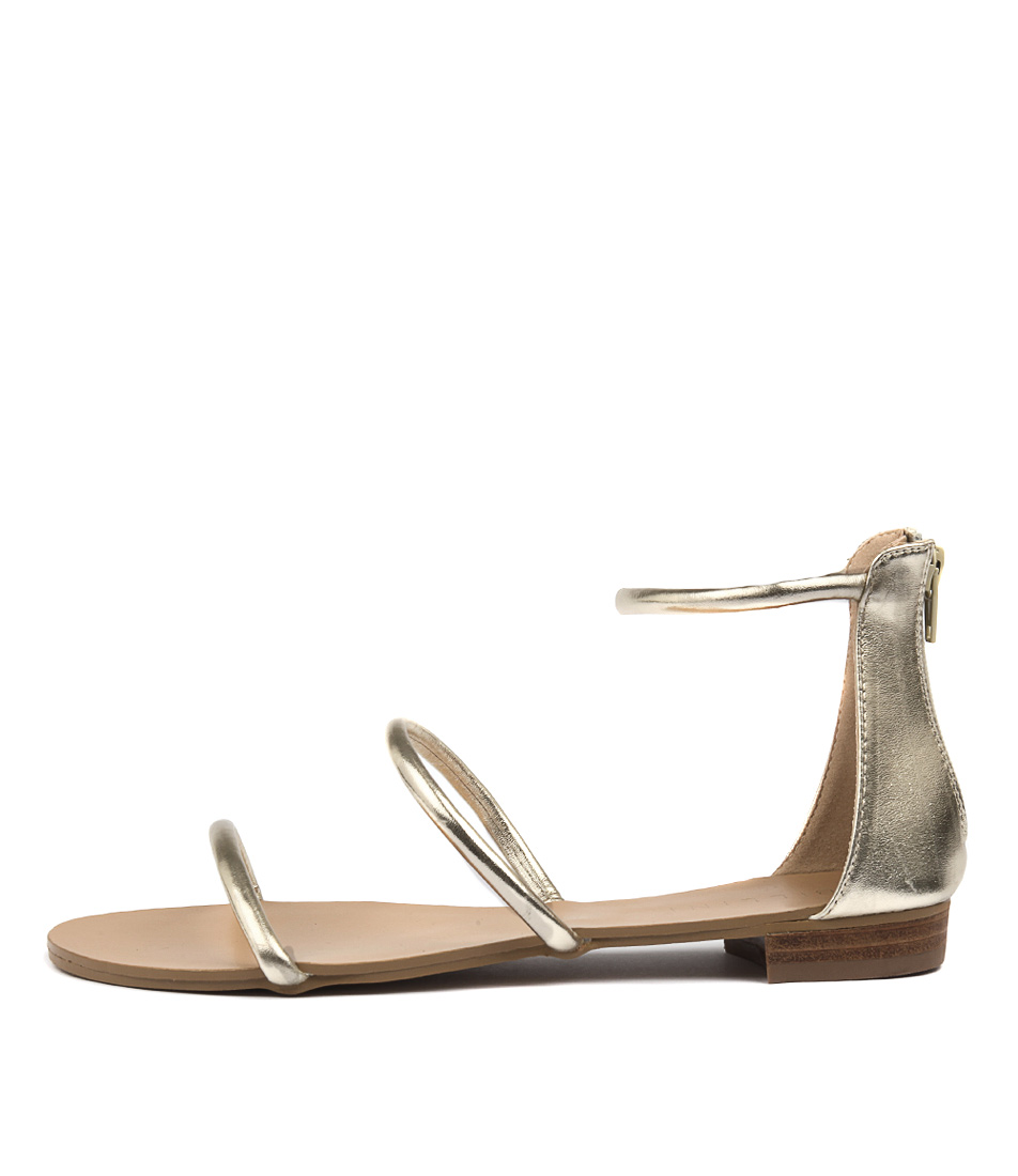 Billini Unique Light Gold Meta Sandals