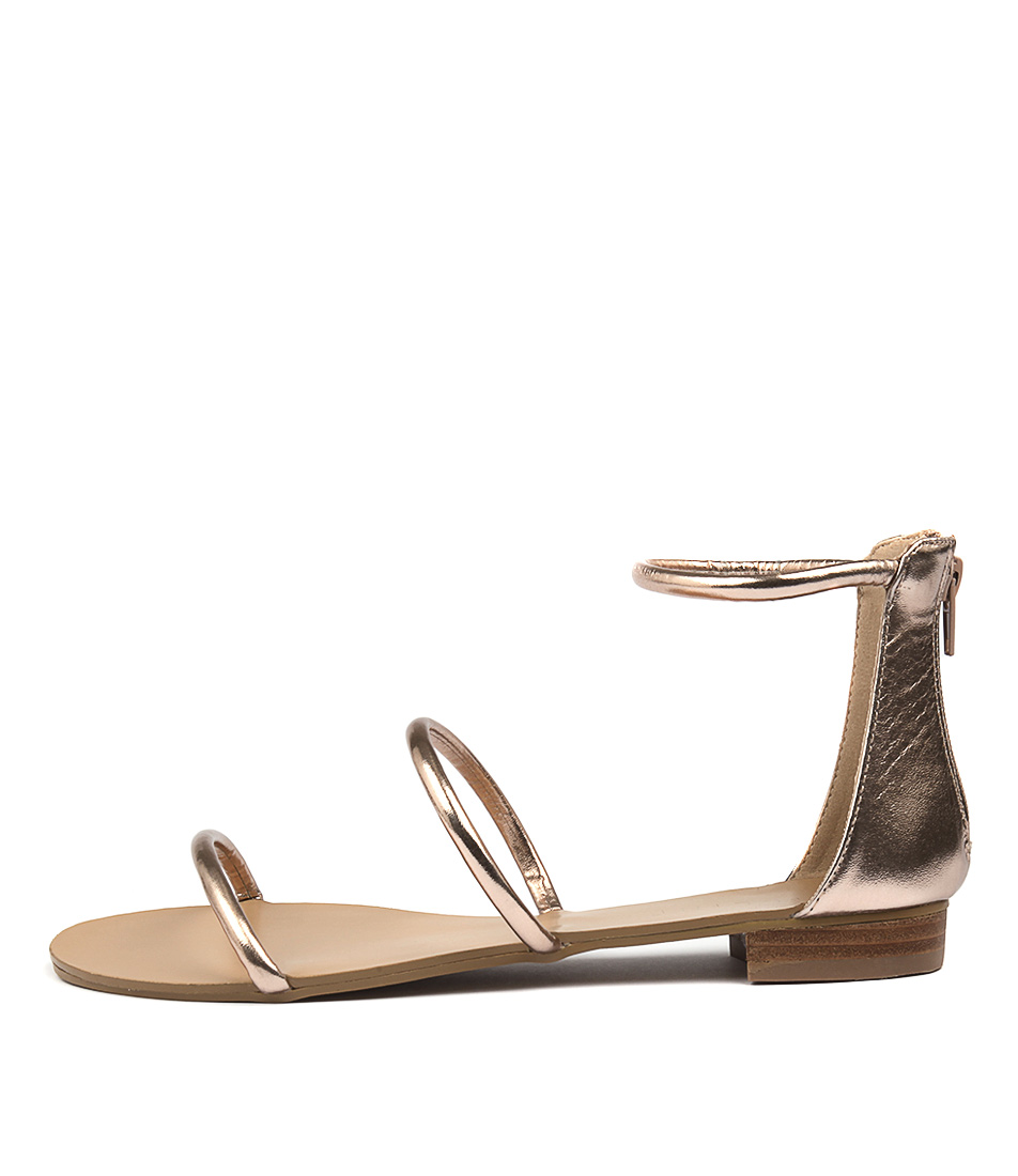 Billini Unique Rose Gold Metallic Sandals