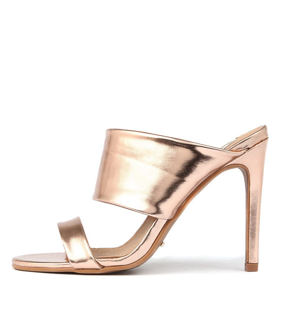 Billini Cavita Rose Gold Metallic Heeled Sandals