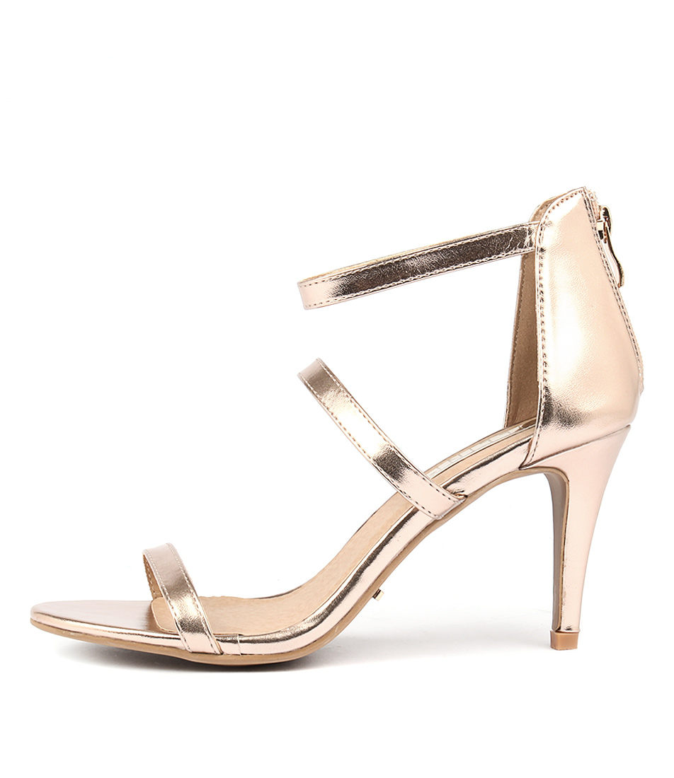 buy Billini Cerise Rose Gold Metallic Heeled Sandals shop Billini Sandals online
