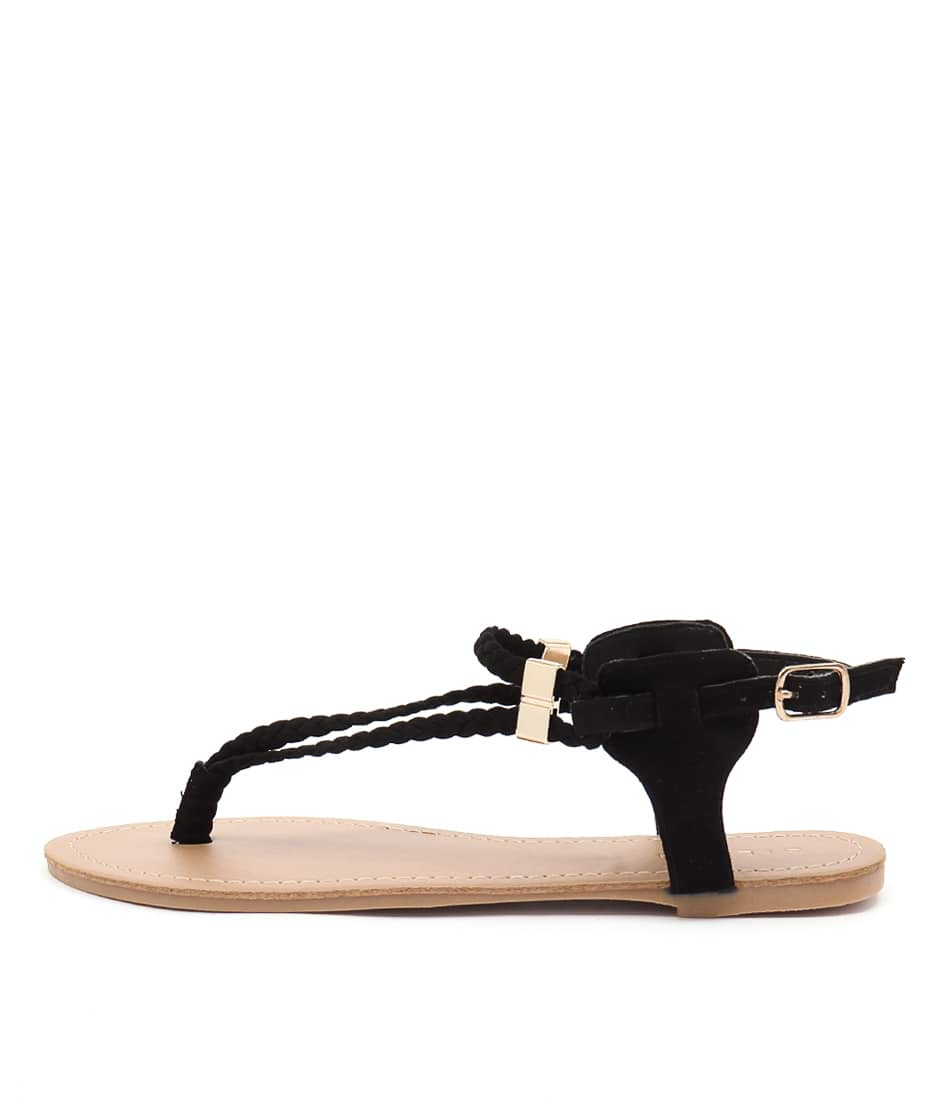 Billini Asher Black Flat Sandals