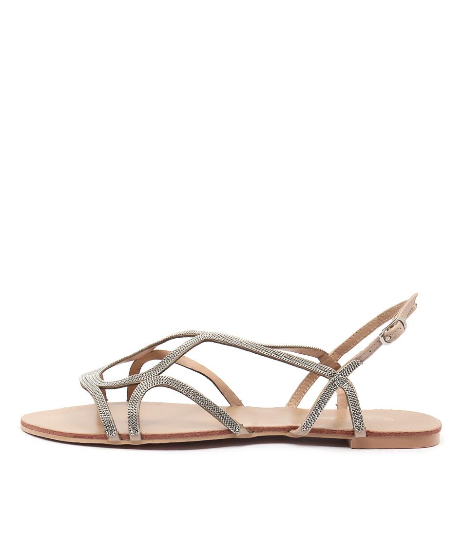 Billini Santorini Silver Casual Flat Sandals