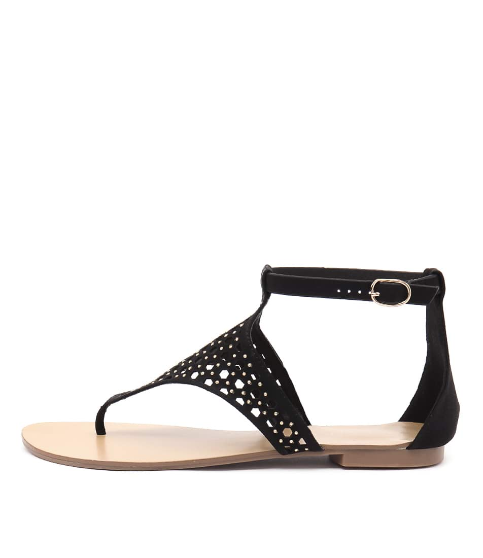 Billini Tori Black Casual Flat Sandals