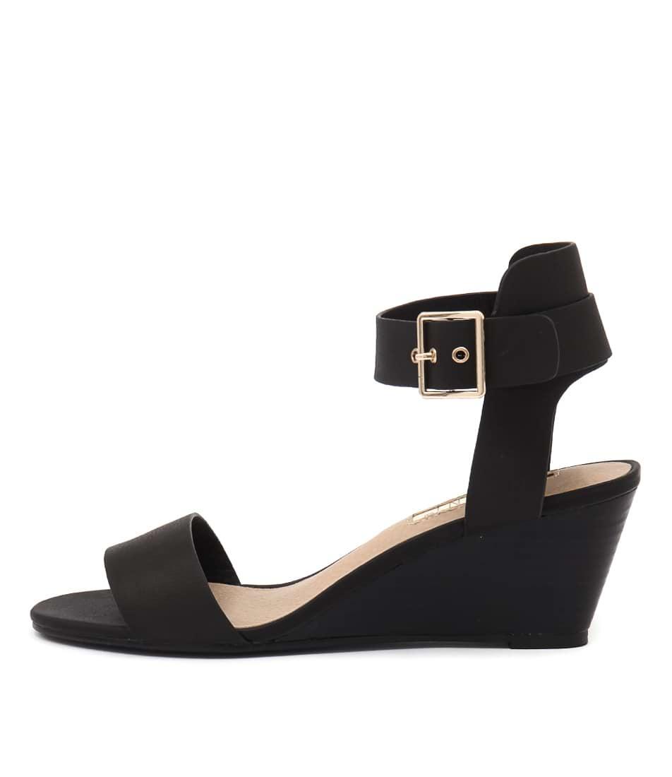 Billini Besha Black Casual Heeled Sandals