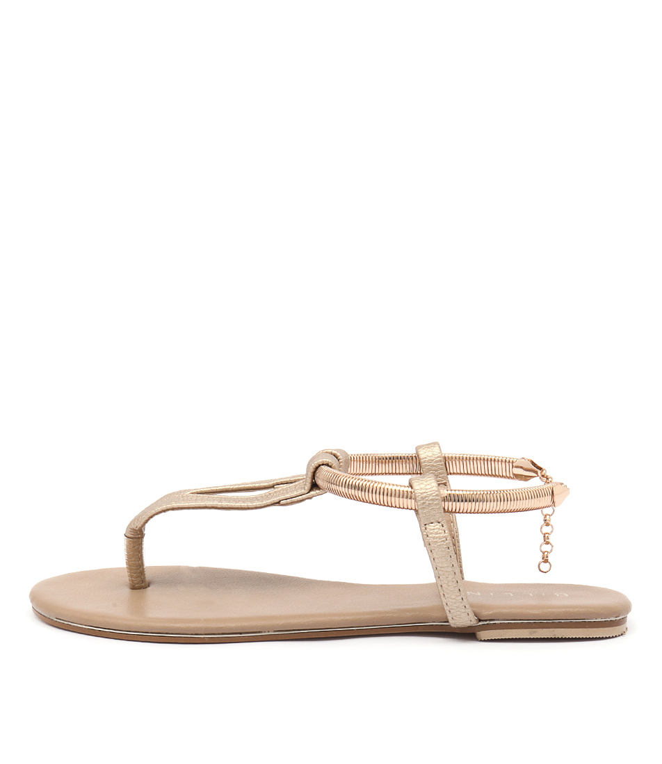 Billini Clarity Light Gold Casual Flat Sandals