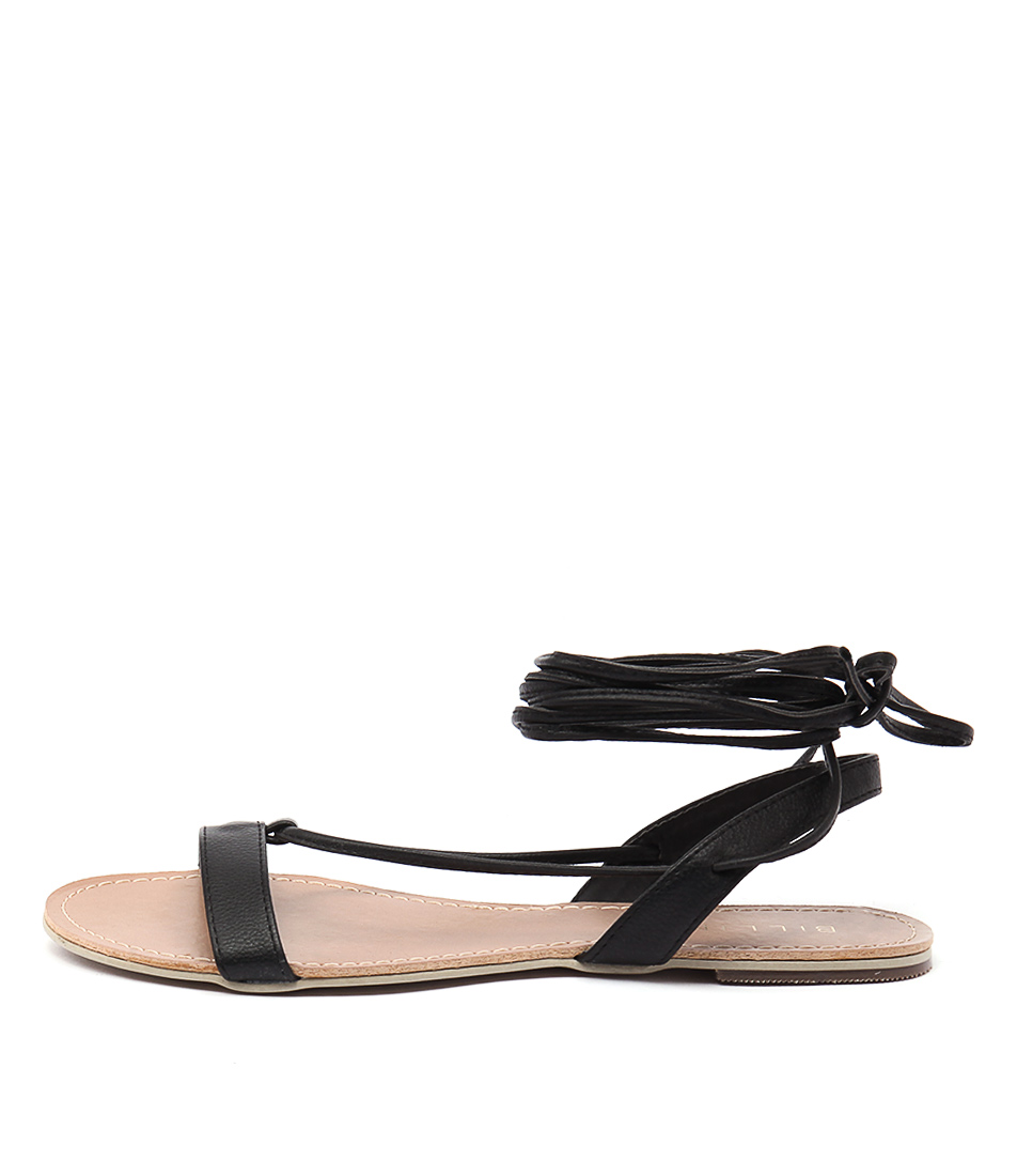 Billini Harmony Black Flat Sandals