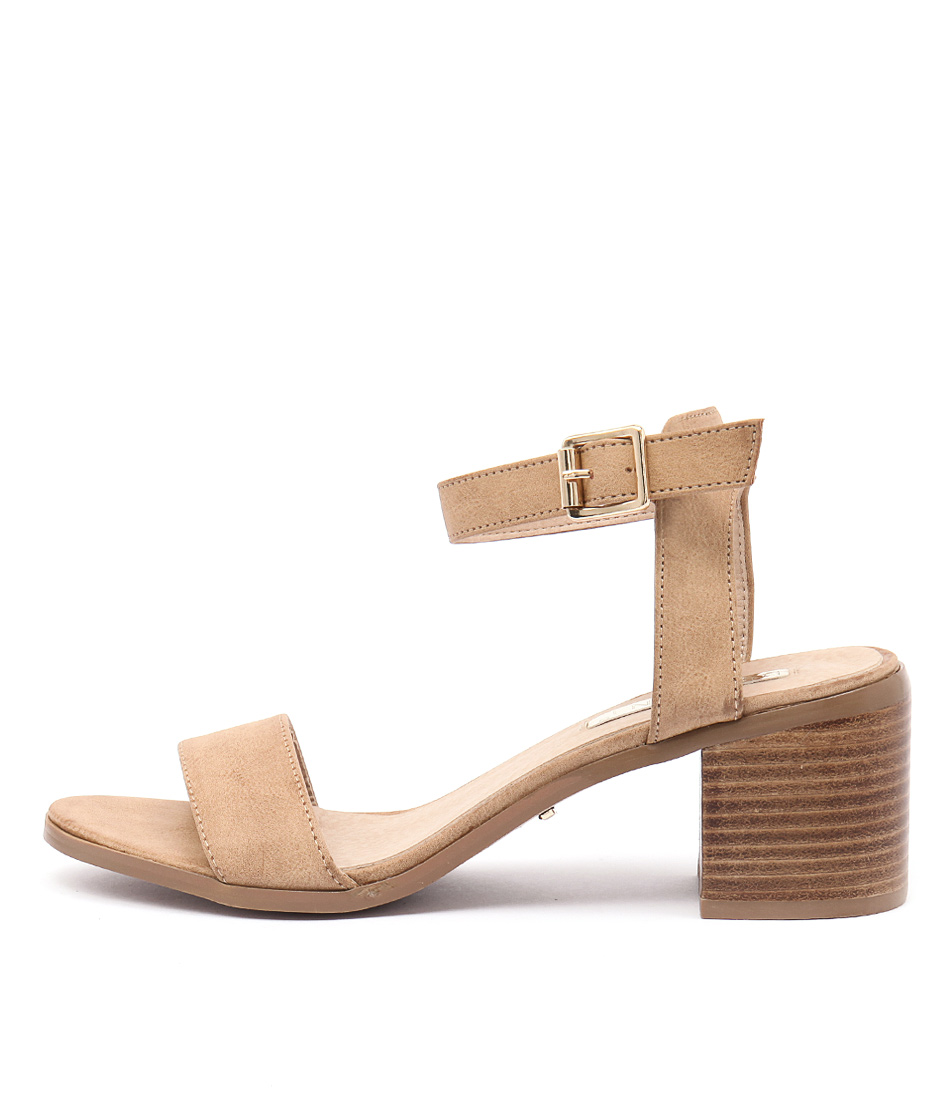 Billini Watson Tan Casual Heeled Sandals