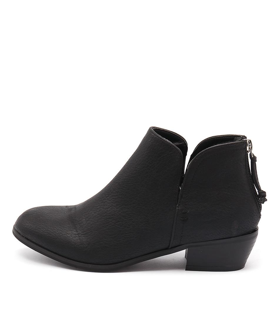 Billini Atlanta Black Casual Ankle Boots