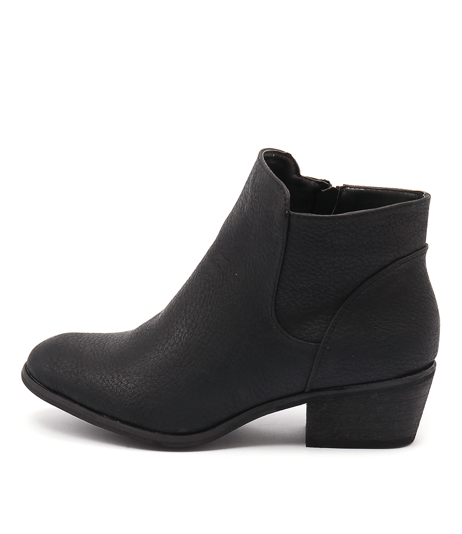 Billini Haven Black Casual Ankle Boots