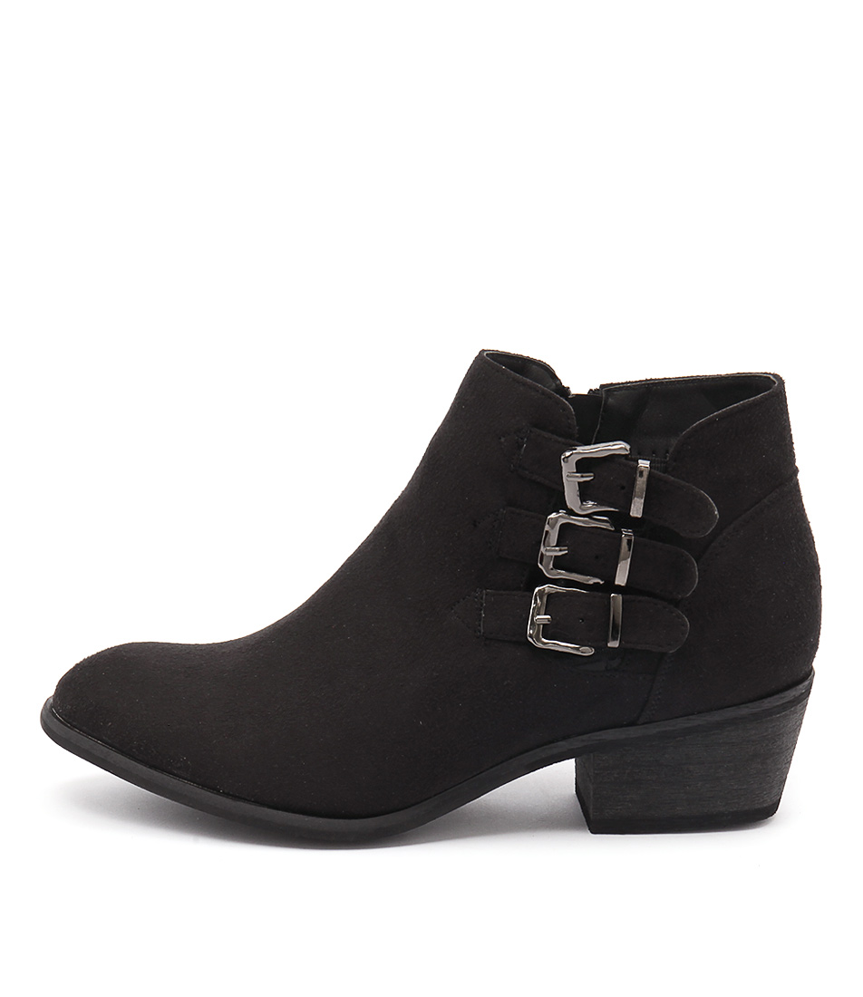 Billini Hamilton Black Casual Ankle Boots