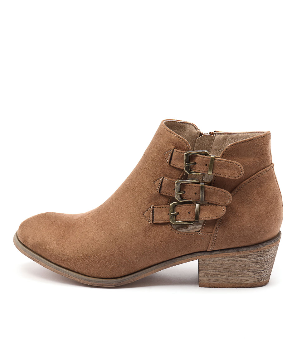 Billini Hamilton Tan Casual Ankle Boots