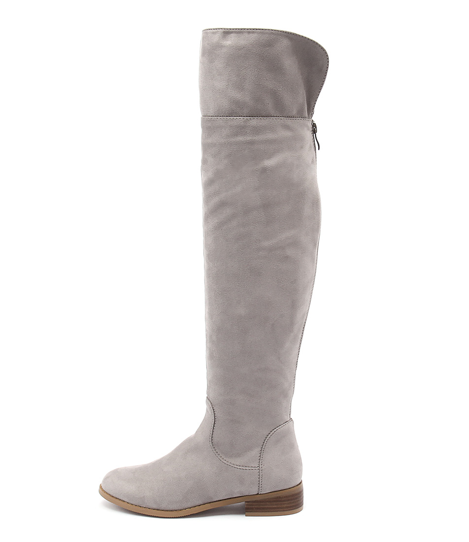 Billini Sera Slate Grey Casual Long Boots