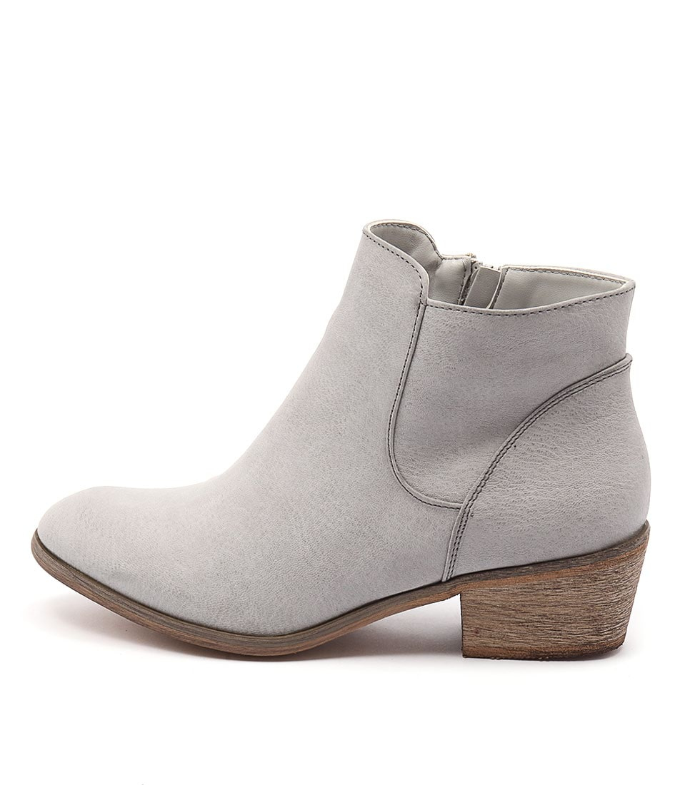 Billini Haven Light Grey Casual Ankle Boots