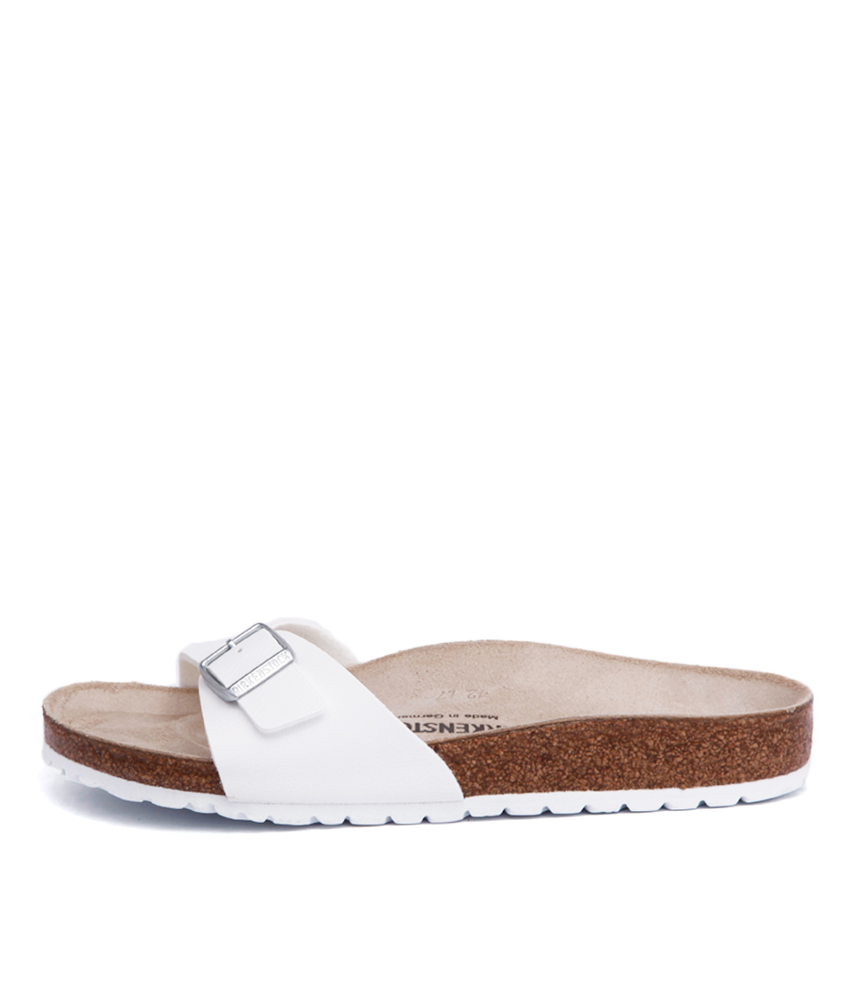 Buy Birkenstock Madrid Bk White Flat Sandals online with free shipping
