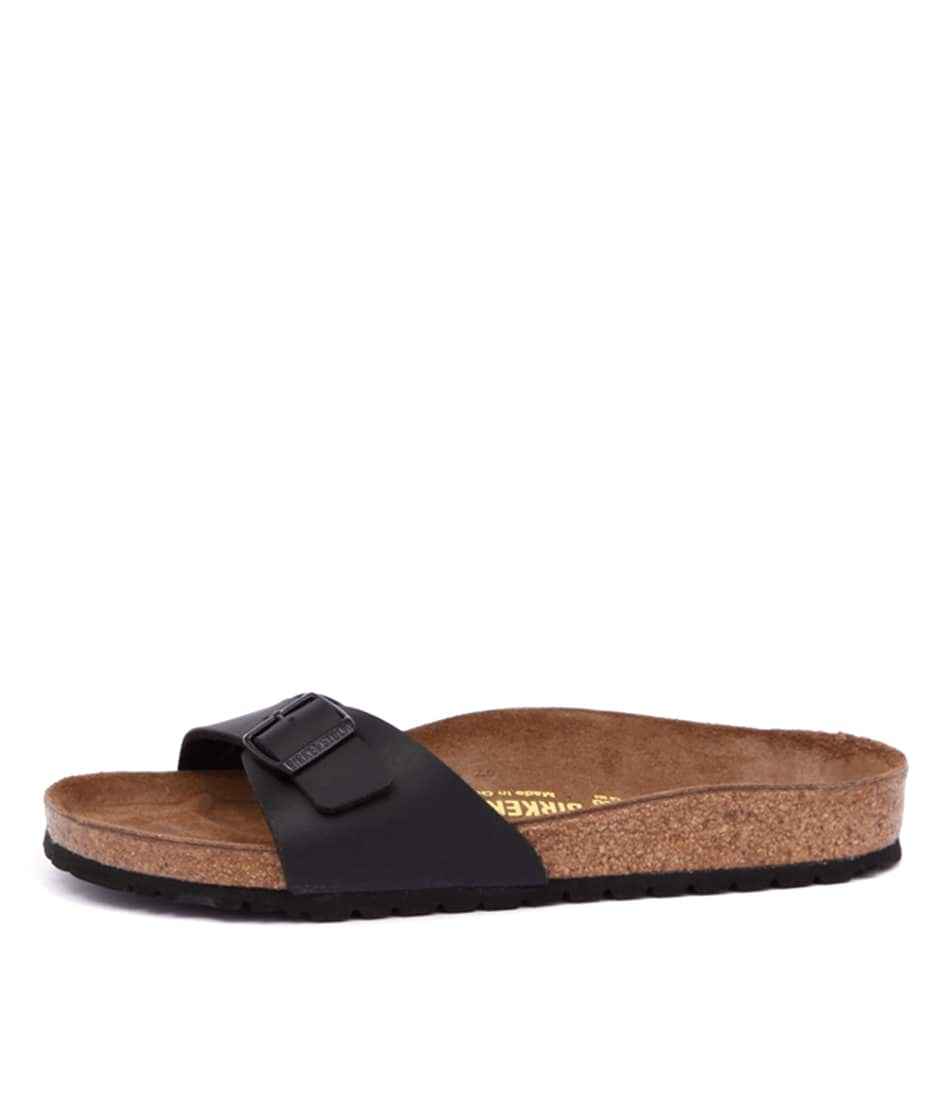Buy Birkenstock Madrid Bk Black Flat Sandals online with free shipping