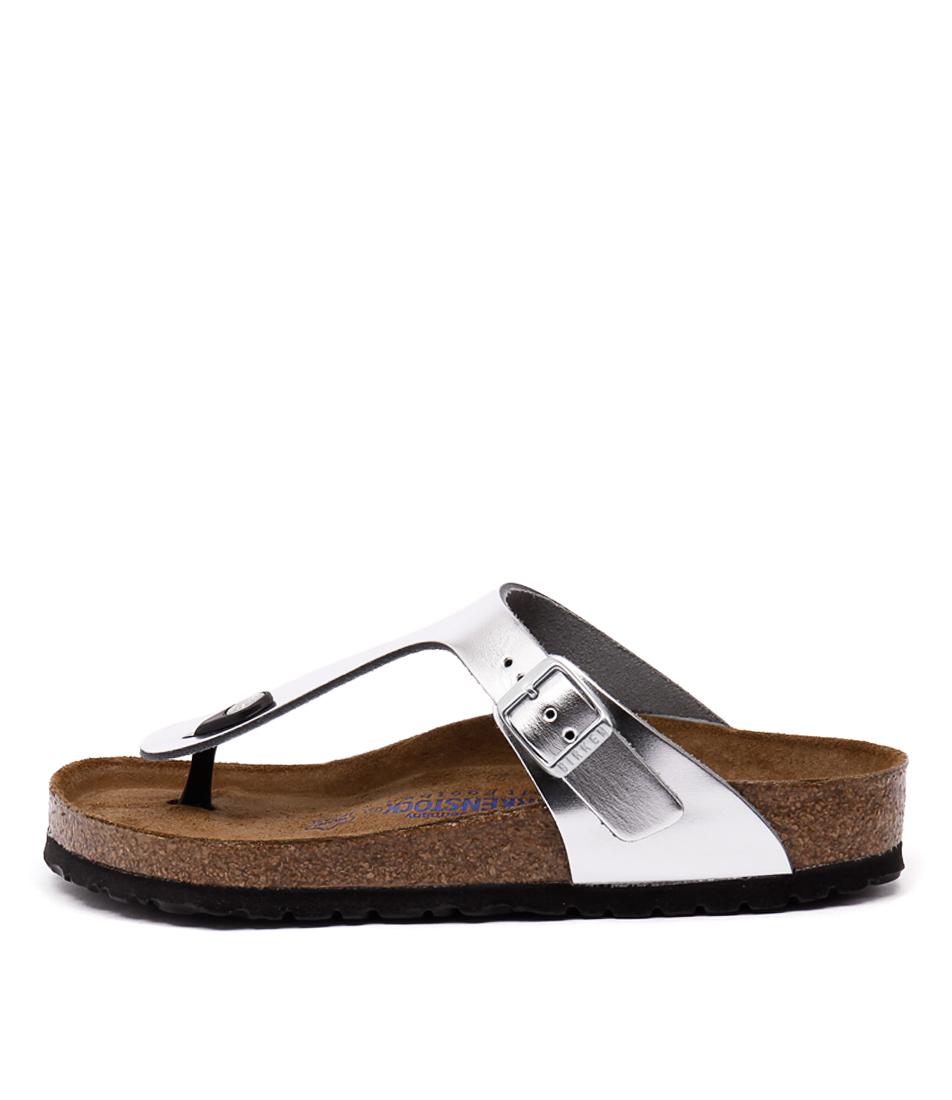 Birkenstock Gizeh Metallic Silver Sandals