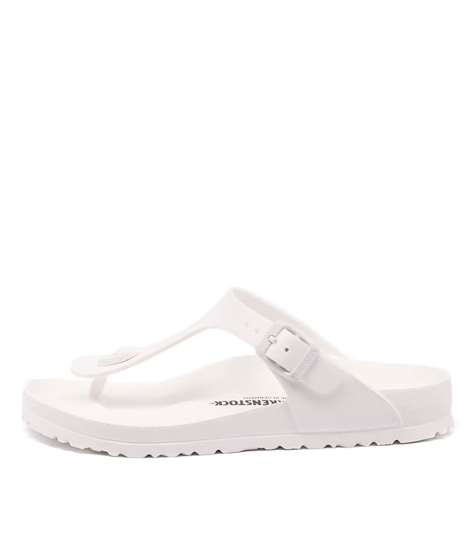Buy Birkenstock Gizeh Eva White Flat Sandals online with free shipping