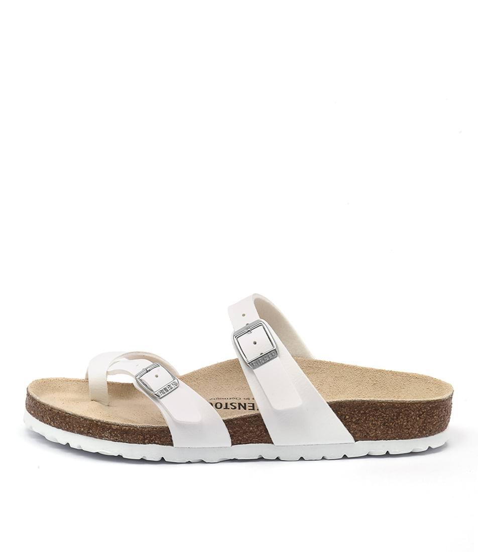 Buy Birkenstock Mayari White Flat Sandals online with free shipping