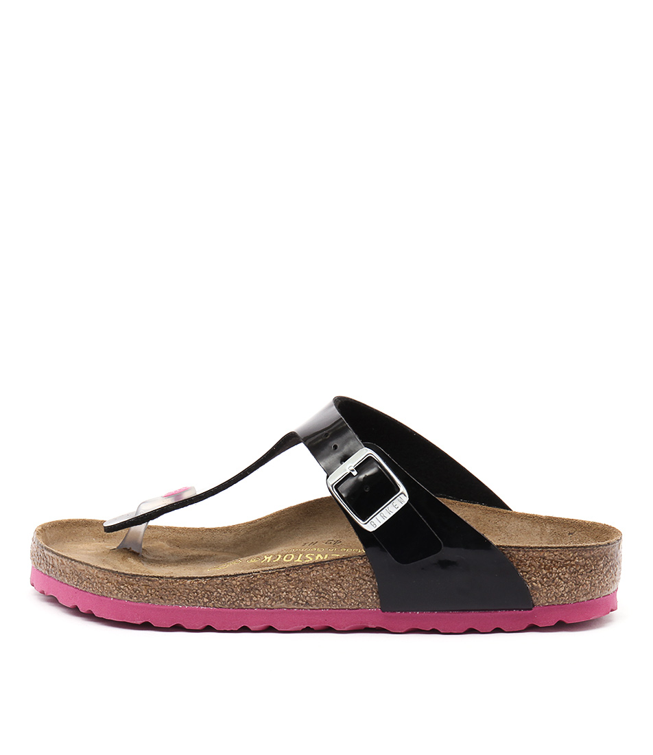 Birkenstock Gizeh Black Pink Sandals