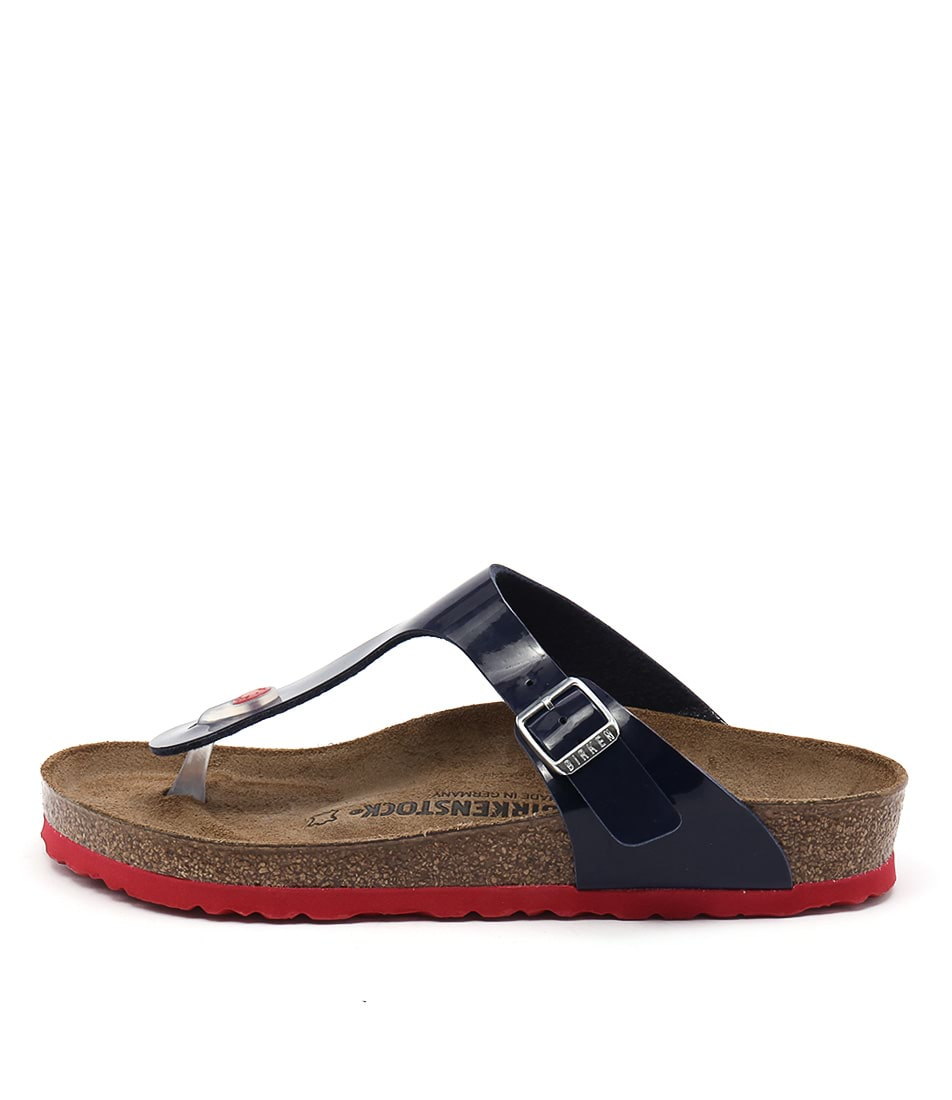 Birkenstock Gizeh Blue Red Casual Flat Sandals