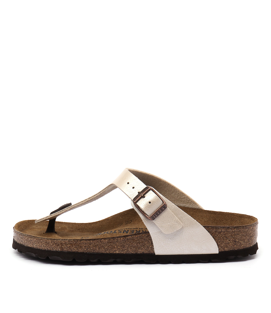 Buy Birkenstock Gizeh Pearl White Flat Sandals online with free shipping