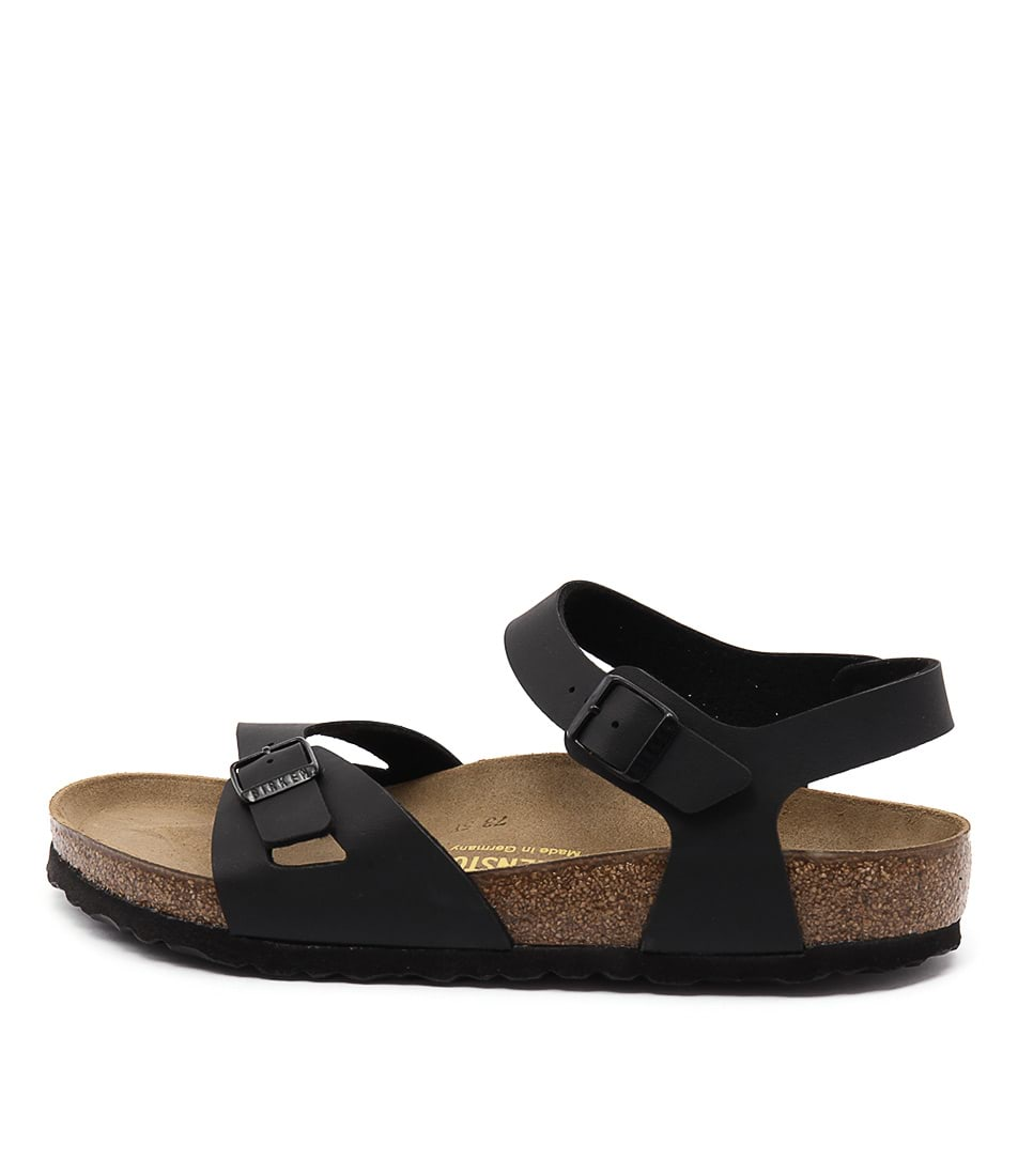 Buy Birkenstock Rio Black Flat Sandals online with free shipping