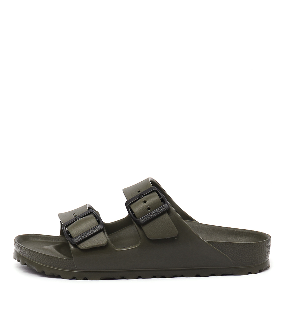 Buy Birkenstock Arizona Eva Khaki Flat Sandals online with free shipping