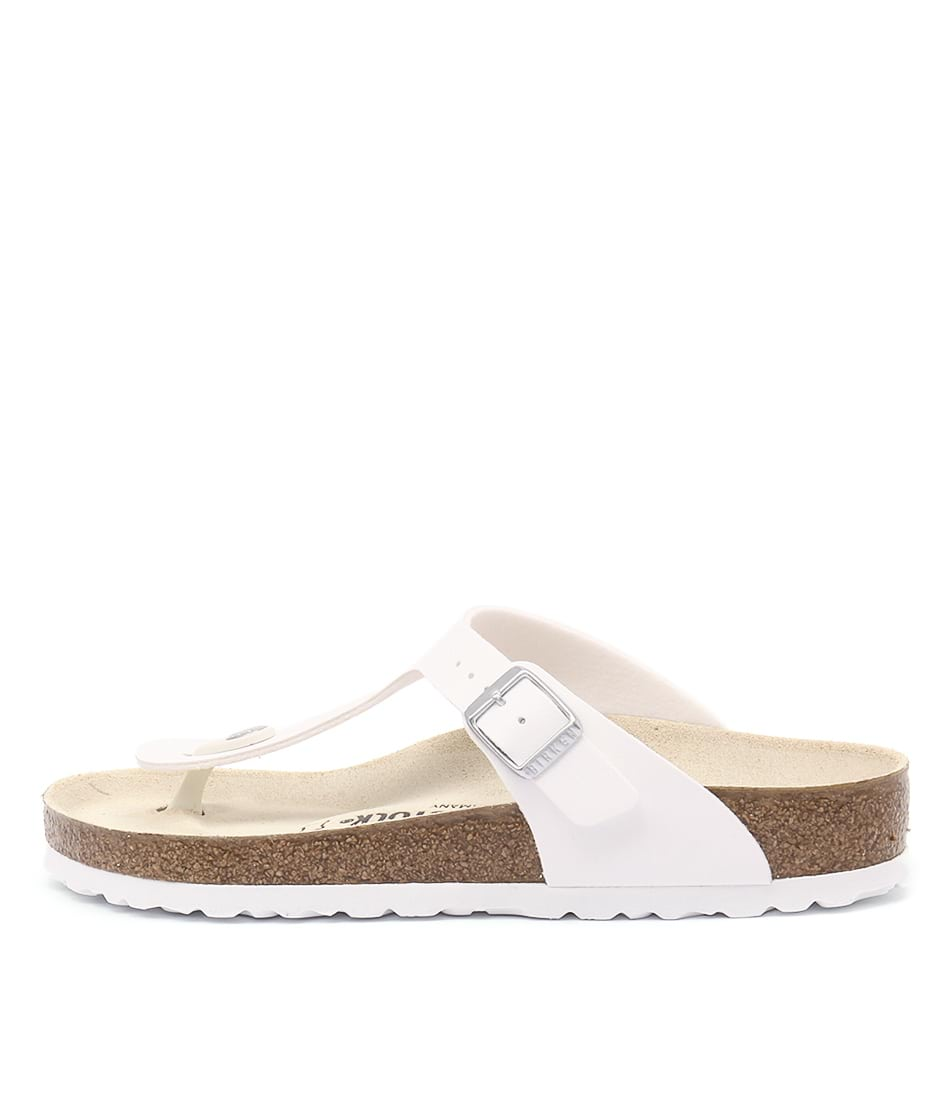Buy Birkenstock Gizeh White Flat Sandals online with free shipping
