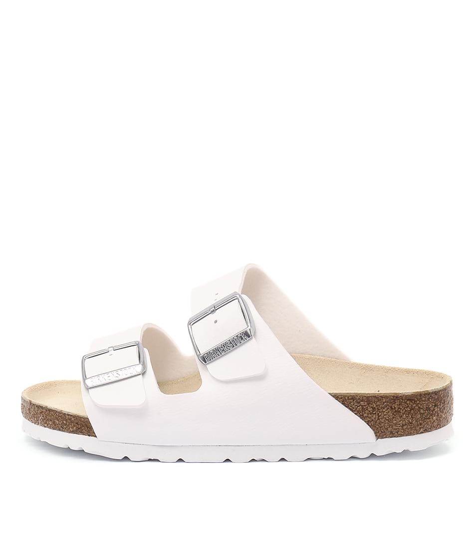 Buy Birkenstock Arizona White Flat Sandals online with free shipping