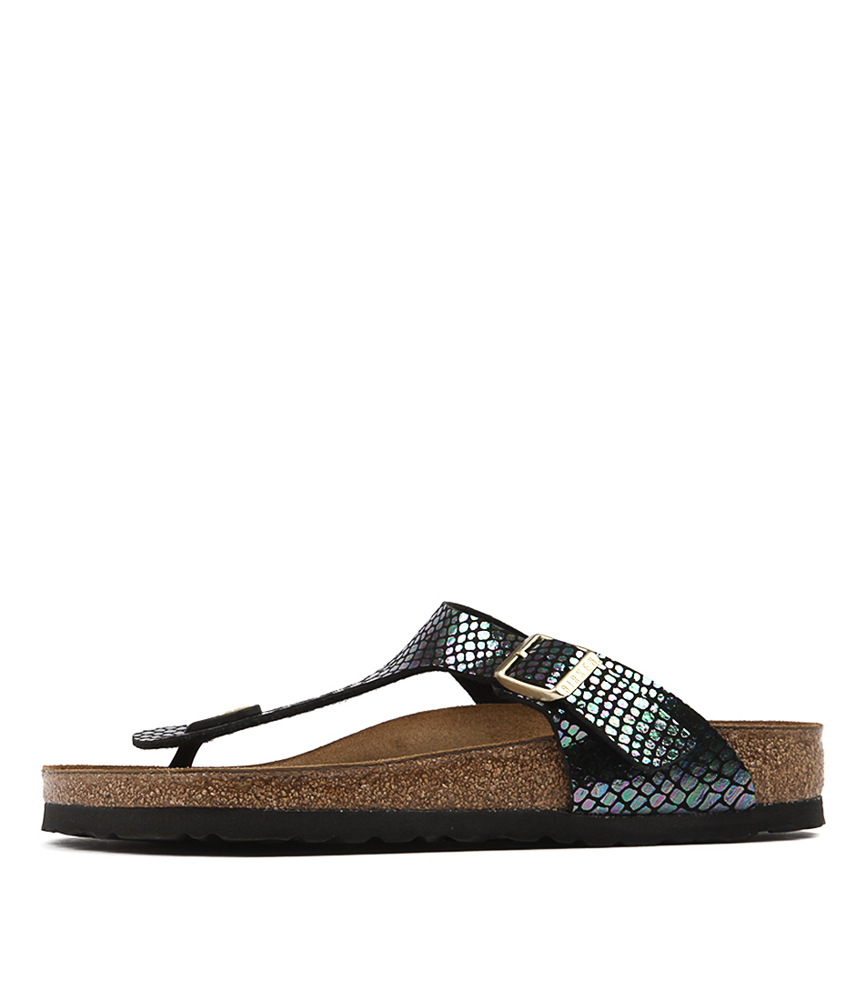 Birkenstock Gizeh Shiny Snake Bla Sandals