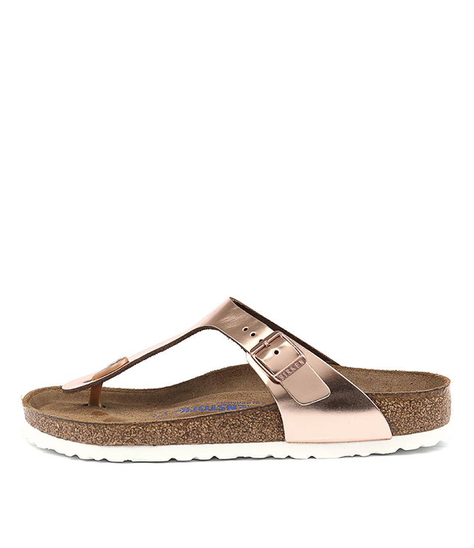 Birkenstock Gizeh Metallic Copper Sandals