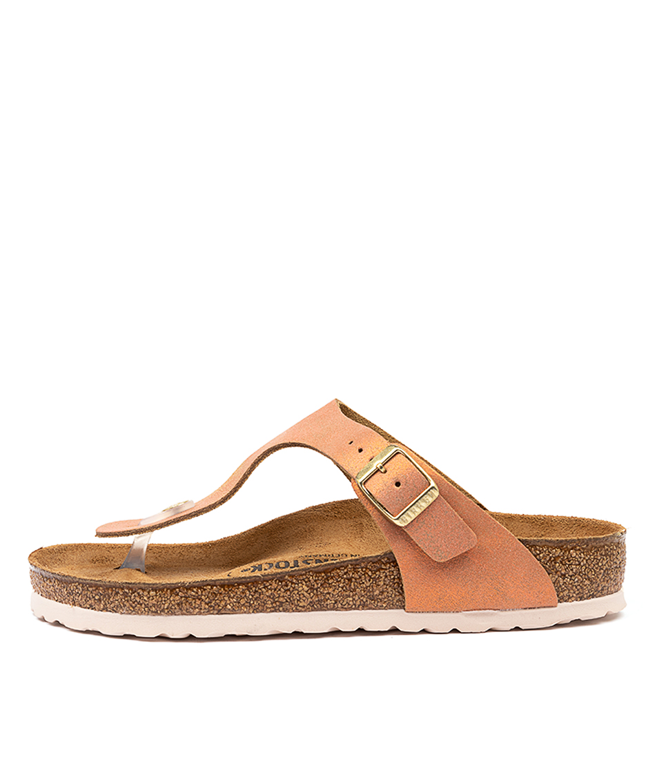 Buy Birkenstock Gizeh Washed Met Sea Copper Sandals online with free shipping