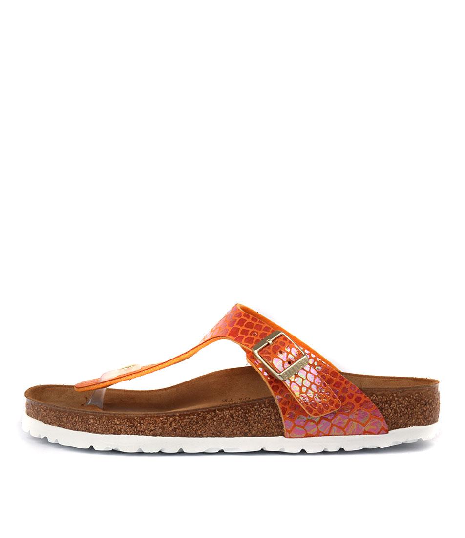 Birkenstock Gizeh Shiny Snake Ora Sandals