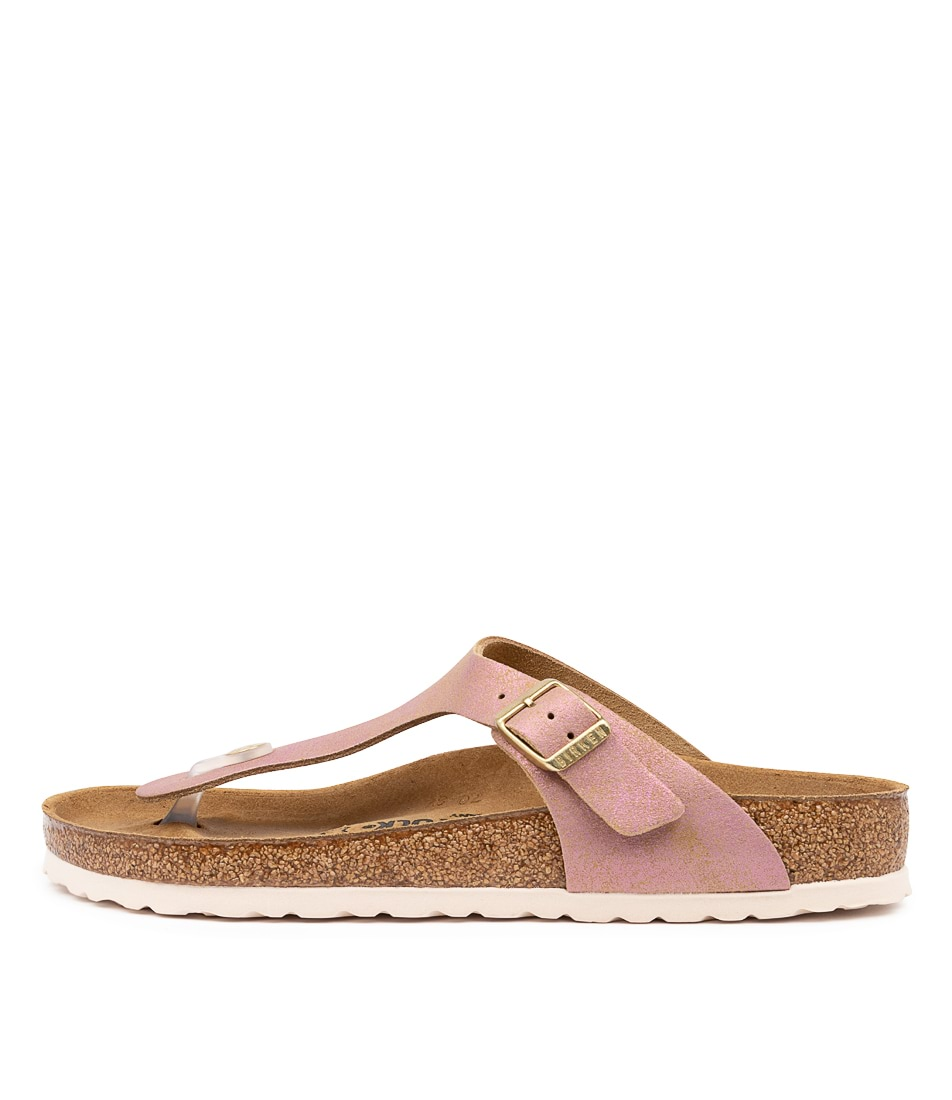 Buy Birkenstock Gizeh Washed Met Pink Sandals online with free shipping