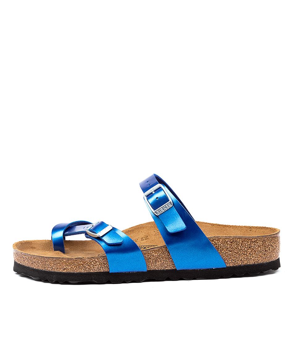 Buy Birkenstock Mayari Electric Met Ocean Flat Sandals online with free shipping