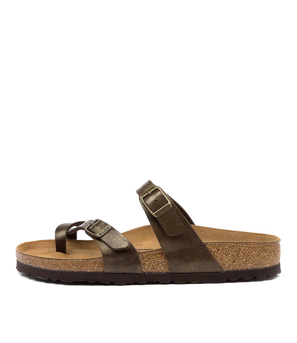 Buy Birkenstock Mayari Golden Brown Flat Sandals online with free shipping