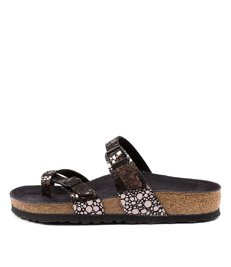 Buy Birkenstock Mayari Met Stones Blac Flat Sandals online with free shipping