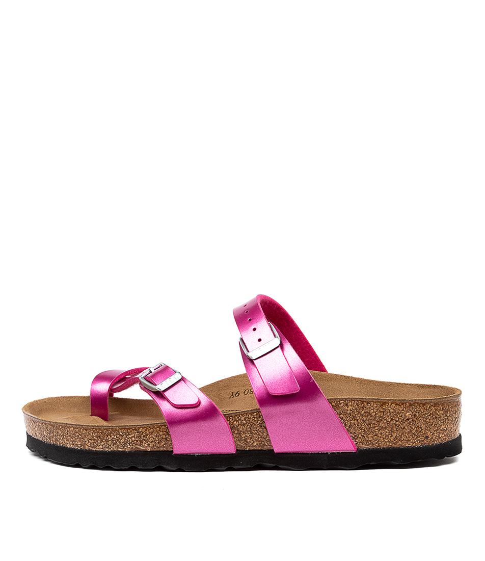 Buy Birkenstock Mayari Electric Met Magenta Flat Sandals online with free shipping