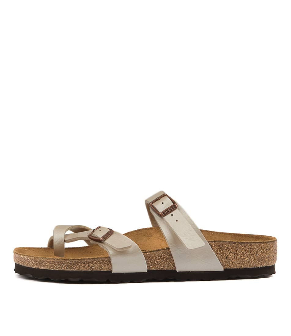 Buy Birkenstock Mayari Pearl White Flat Sandals online with free shipping