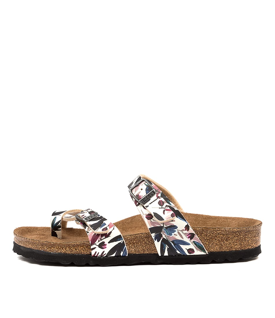 Buy Birkenstock Mayari Floral Fades Off White Flat Sandals online with free shipping