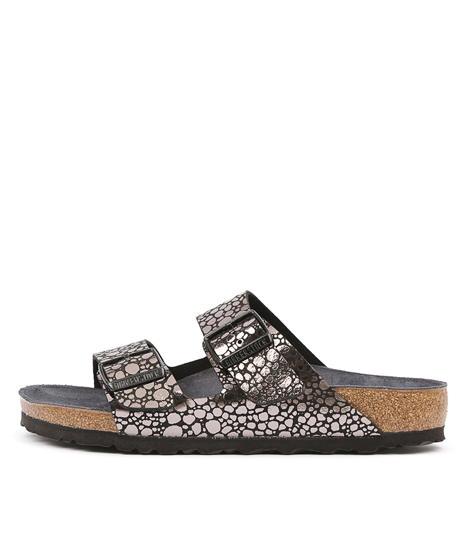 Buy Birkenstock Arizona Stones Black Flat Sandals online with free shipping